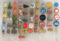 !! 51 different bicycle related badges: brands, traffic signs tour-de-france etc