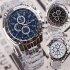 Luxury Mens Watch Stainless Steel Band Waterproof Quartz Business Wristwatch Hot