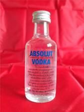 EMPTY ABSOLUT VODKA MINI MINIATURE BOTTLE WITH CAP 50 ML  1.7 FL OZ