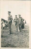WW1 Postcard 5th Lancashire  Artillery Volunteers sergeant Megaphone Camp 1913
