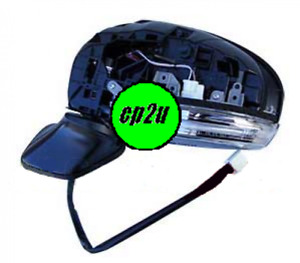 TO SUIT TOYOTA PRIUS PRIUS ZVW30 HATCH  FRONT DOOR MIRROR 04/09 to 02/16 LEFT