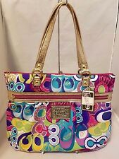 Coach Poppy Multi-Color Pop C Glam Tote Limited Edition Rare 15293