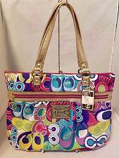 Coach Poppy Multi-Color Pop C Glam Tote Limited Edition Rare 15293