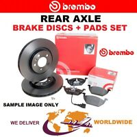 BREMBO Rear Axle BRAKE DISCS + PADS SET for BMW 5 (F10, F18) 530d 2015-2016