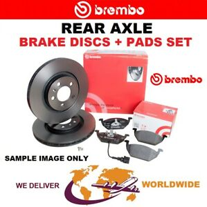 BREMBO Rear Axle BRAKE DISCS + PADS SET for HONDA CITY Sal. 1.4 i-V TEC 2008->on