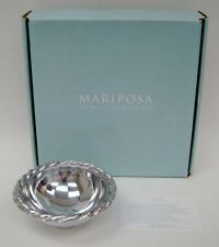 "Mariposa Brilliante Swizzle Aluminum Sauce Dish Bowl 6"" Original Box Mexico Bowl"