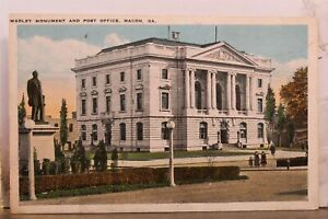 Georgia Macon Wadley Monument Post Office Postcard Old Vintage Card View Post PC