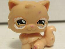 2007 Littlest Pet Shop Orange White Persian Kitty Cat #490 Diamond Eyes LPS