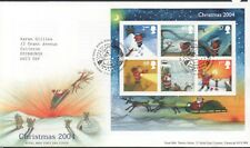 GB 2004 FDC Christmas MINISHEET special handstamp Bureau Edinbugh, stamps