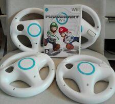 Jeux Wii Mario Kart + 4 Volants Officiel