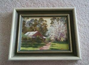 Barbara Rogalski Australian Artist Original Cottage & Garden-Signed, Dated '85