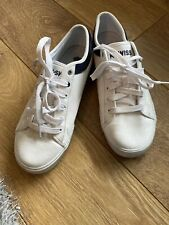 K-Swiss White Tennis Style Trainer Shoes In Size 9