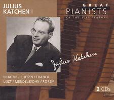 Julius Katchen I - 2 CD-Brahms/Chopin/Franck/Liszt/Mendelssohn/Rorem