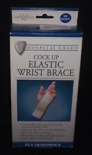 FLA Orthopedics Hospital Grade Cock Up Elastic Wrist Brace XS Right Beige