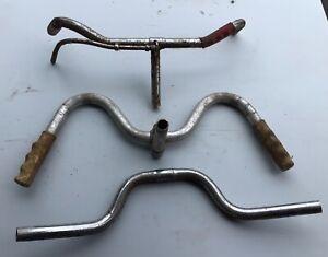 Joblot Vintage bicycle handlebars, W shaped.