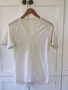 RAPHA Fine Merino Wool Cycling Short Sleeve Tee Base Layer Shirt Womens Medium M