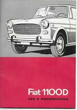 FIAT 1100 D. USO E MANUTENZIONE, 1963 - 1°EDIZIONE