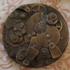 Vintage Bronze American Co Watch Works Belt Buckle