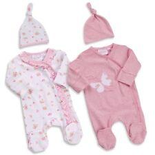 BABY TOWN ensemble fille 0 - 12 mois avec bonnet en version rose ou blanc floral