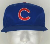 Vintage CHICAGO CUBS Snapback Hat Baseball Cap Blue Logo Sports Specialties