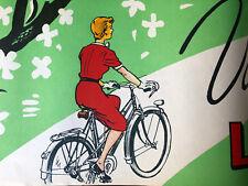 Affiche Ancienne Bicyclette Publicitaire Antique Poster Bicycle Vélo Printemps