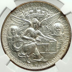 1934 TEXAS Independence Commemorative Silver Half Dollar Coin NGC MS 64 i75987