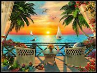 Tropical Dreams -Chart Counted Cross Stitch Pattern Needlework Xstitch craft DIY