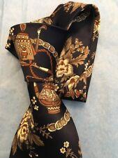 MERCEDES Navy print men's necktie. 100% silk
