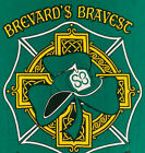 Brevard Fire Department Engine Florida FL T-Shirt Sz L FDNY Irish IRE