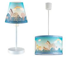 Deckenleuchte plus Tischleuchte ZEBRA Kinderzimmerlampe Kinderleuchte Kinderlamp