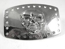 Silvertone Odd Unusual Skull Belt Buckle 41017