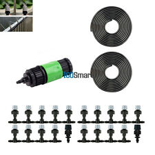 67ft 20 Plastic Nozzle Garden Misting Cooling System Micro Watering Irrigation