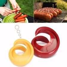 2Pcs/set Sausage Cutter Food Grade Manual Fancy Spiral Barbecue Hot Dog Slicer