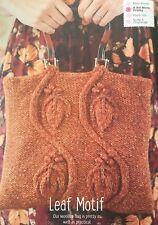 KNITTING PATTERN Ladies Vine Leaf Motif Handbag Cable Bag Aran Sublime PATTERN