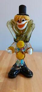 Vintage Murano Multi Colour Glass Clown