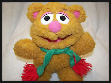 """muppets fozzy bear with scarf  new missing hat nappy furr  7"""""""