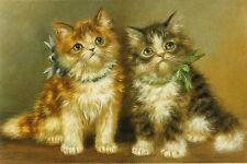 Grußkarte: Fluffy Kittens - Malerei von Jean-Francois Portaels (1818-1895)
