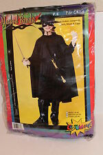 Boy Size Medium 8-10 Masked Bandit Halloween Costume Black Zorro Costume NEW