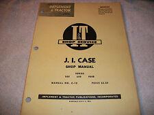 Original J I Case I & T Shop Service Manual Series 500 600 900B Tractor