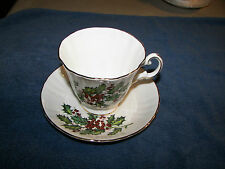 Royal Grafton Vintage Fine Bone China Made In England Footed Cup & Saucer Holly