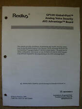 Motorola Radius GP350 Global Port Software Manual # 282