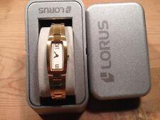 New - Reloj Watch LORUS Ref.RRS05FX-9 - Quartz  Golden steel Acero dorado  Nuevo