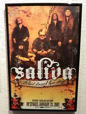 SALIVA  AUTOGRAPH PROMO POSTER - ROCK/METAL A28250
