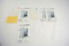 4x Front+Back Screen Shield Cover FULL Protector + Cloth For APPLE iPhone 4 4S