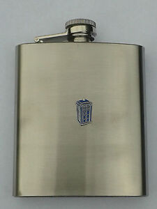 Dr Who TARDIS HIP FLASK great Father's day gift!!
