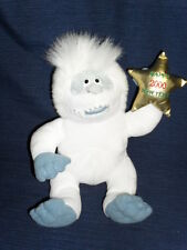 """Abominable Snowman Rudolph 10"""" Stuffins beanbag plush Happy New Year 2000"""