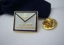 Masonic Freemason Lodge Real Men Wear Aprons Apron Lapel Pin Plus Gift Pouch