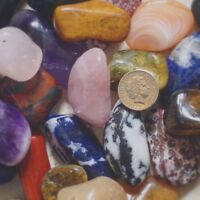 20 XL DIFFERENT Colourful Crystal Tumblestones reiki gemstones  30 - 44 mm