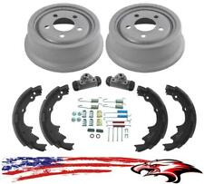 New Rear Drums Brake Shoes Wheel Cylinders Spring Kit for Jeep Wrangler 01-06
