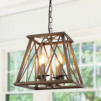 Trapezoid Metal Pendant Lamp Industrial Hanging Light Fixture Ceiling Lamp